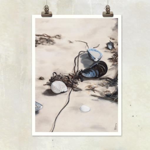 print Bland musslor och tång by Frickum