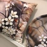 Art tray, cushion by Frickum, konst, inredning, kudde, bricka