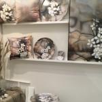 Art trays, cushions, kitchen towels by Frickum, konst, inredning, kudde, bricka, kökshandduk, nordic , blommor, konst