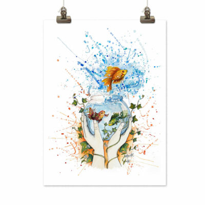 Art print Break free by Frickum