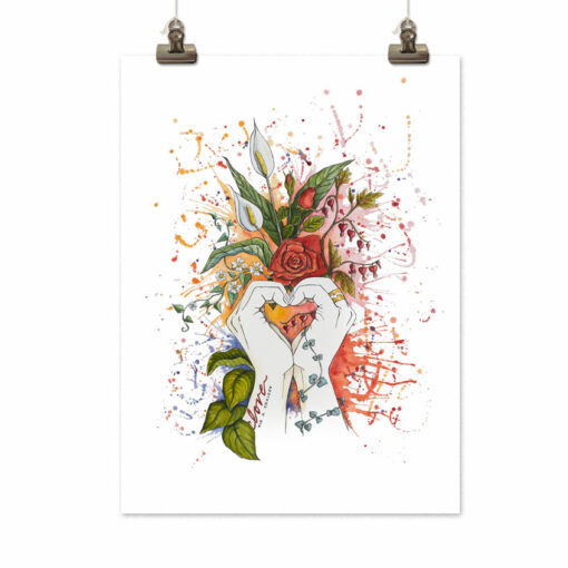 Art print Love is a choice by Frickum