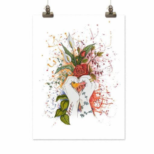 Art print Love is a choice by Frickum