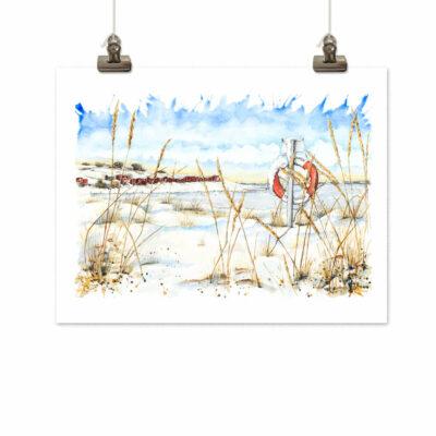 Art print Vinter i Torstensvik by Frickum