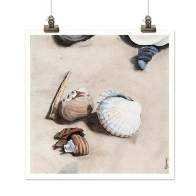 Art print Strandsnäckor (Seashell) by Frickum