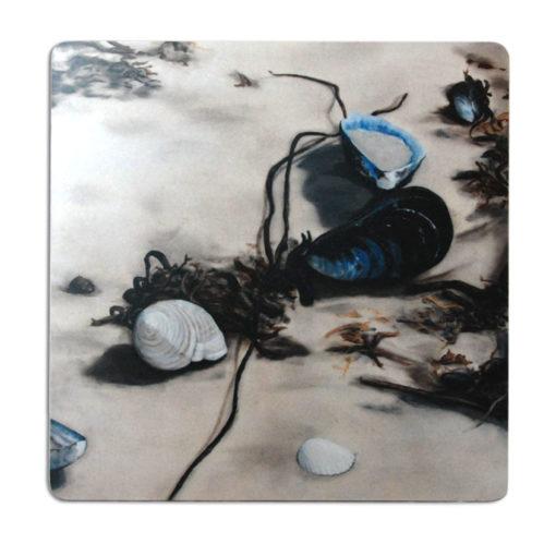 Art trivets by Frickum, musslor, grytunderlägg, skärbräda, västkust, nordic design