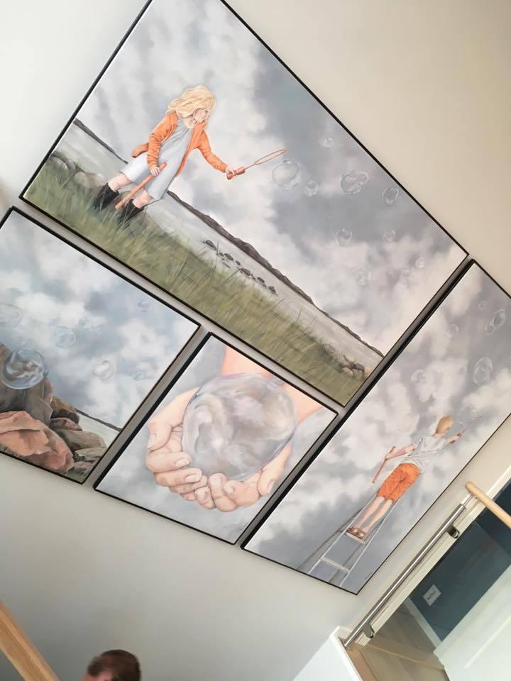 Let us all have dreams Original by Frickum, paintings, artist, art
